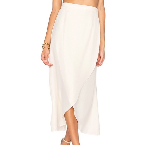 6548e45776 LPA Dresses & Skirts - LPA White Cream Wrap 148 Tulip Midi Skirt